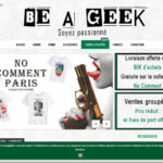 Be A geek : t-shirt original h/f